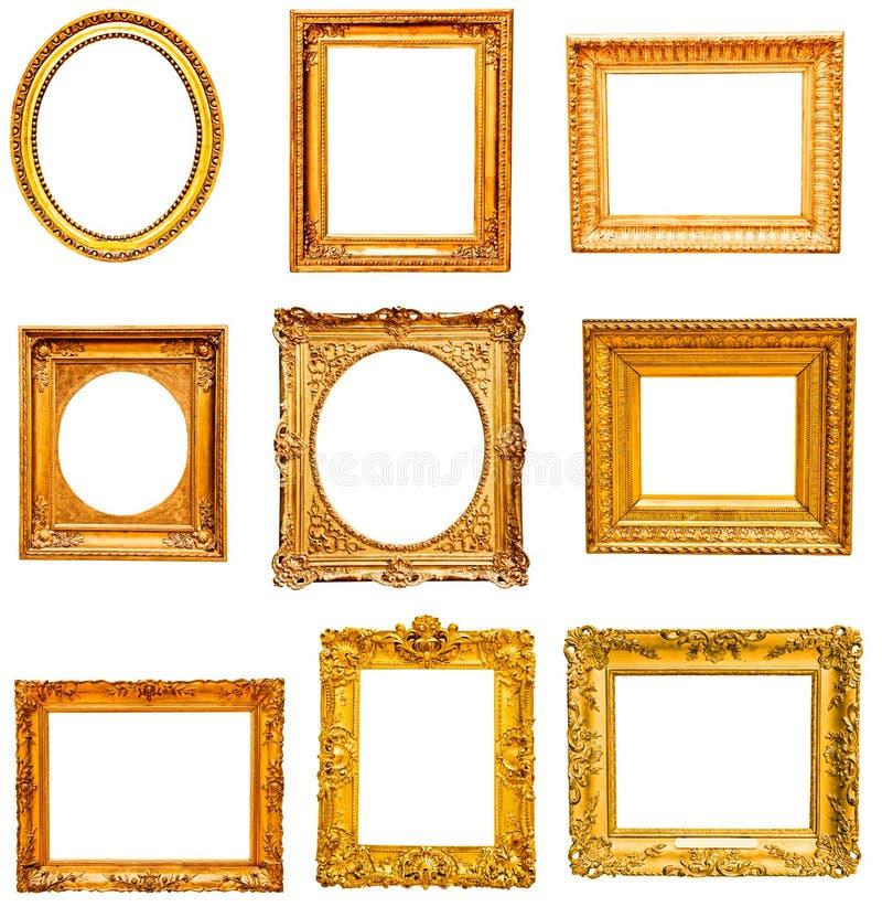 Download Set Of Golden Vintage Frame Stock Photo - Image: 34345516