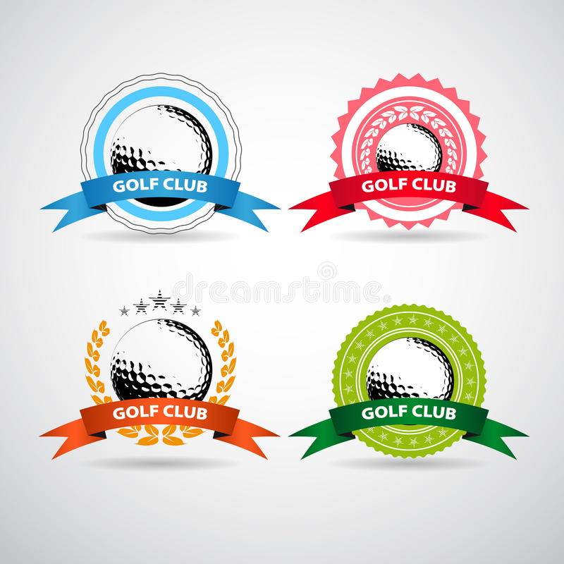 Set of golf club logos, labels and emblems vector illustration