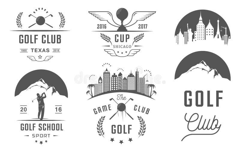 Set of Golf Logo, Labels and Emblems vector illustration