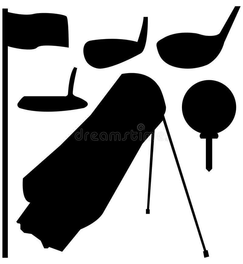 Download Set Of Golf Silhouettes Royalty Free Stock Photo - Image: 15241655