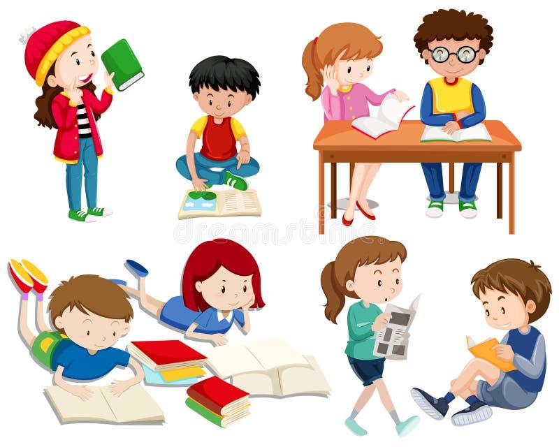 A Set of Good Students stock illustration