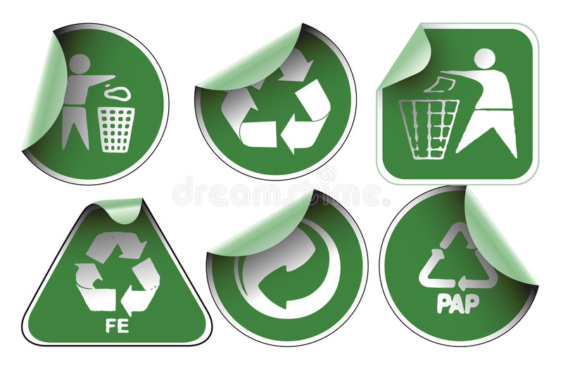 Set Grün bereiten Kennsätze auf lizenzfreie abbildung