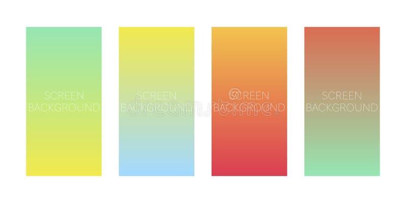 Set gradientowi tła dla przyrządu ekranu ilustracji