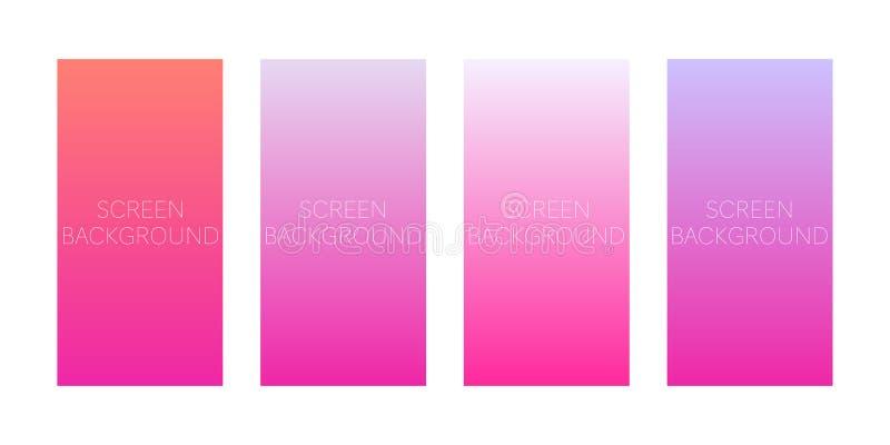 Set gradientowi tła dla przyrządu ekranu ilustracja wektor