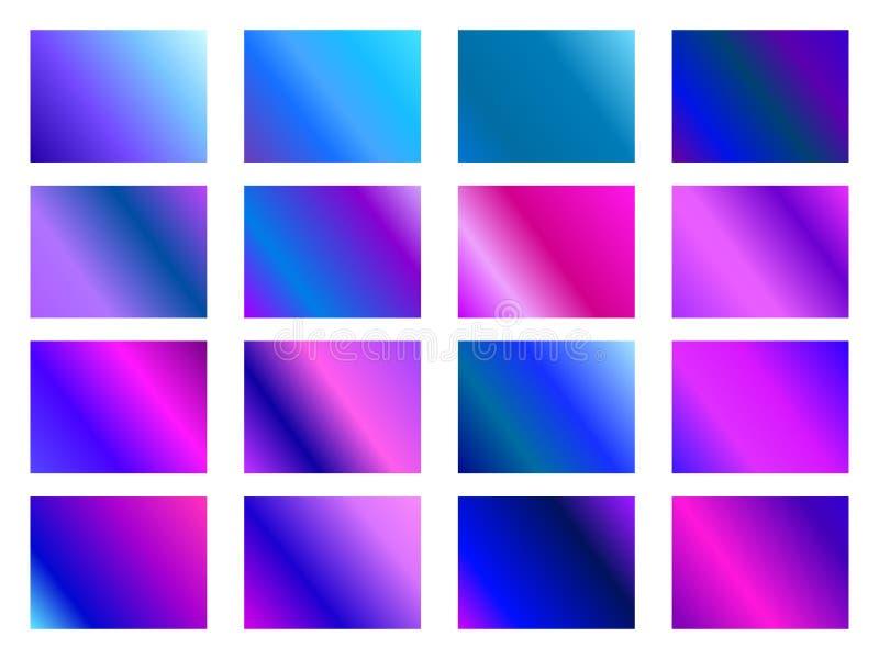 Set gradientowi tła Zamazani cienie purpury, ciemny fiołek wektor ilustracja wektor