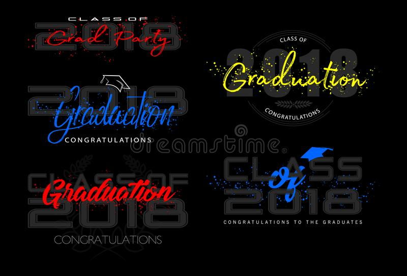 Set. Graduation label. royalty free illustration