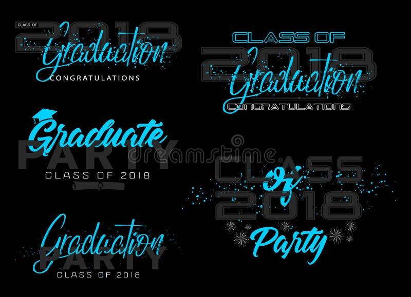 Set. Graduation label. vector illustration