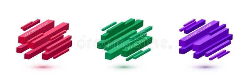 Set grafika kszta?tuje abstrakcjonistycznego wektorowego t?o Minimalny geometryczny linia projekt z diagonalnym kierunkiem ilustracja wektor