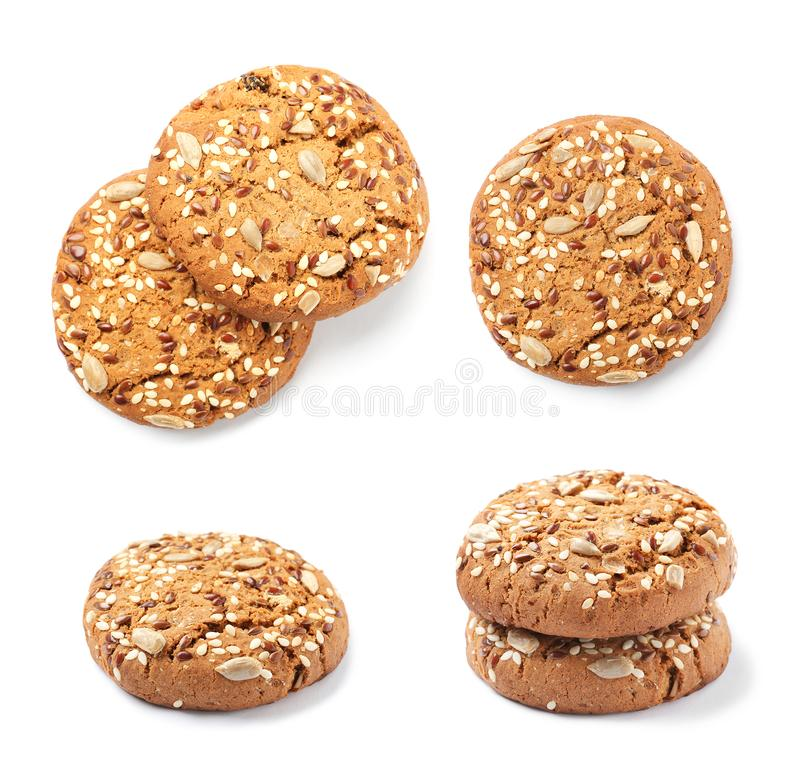 Fresh Oatmeal Cookies Collection Stock Photo