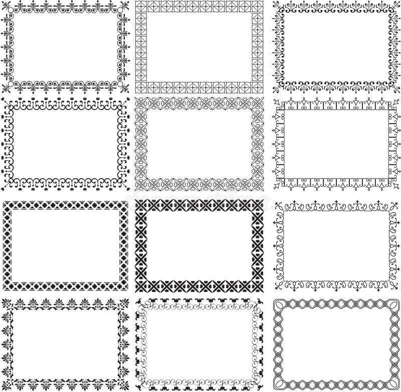 Set granicy royalty ilustracja