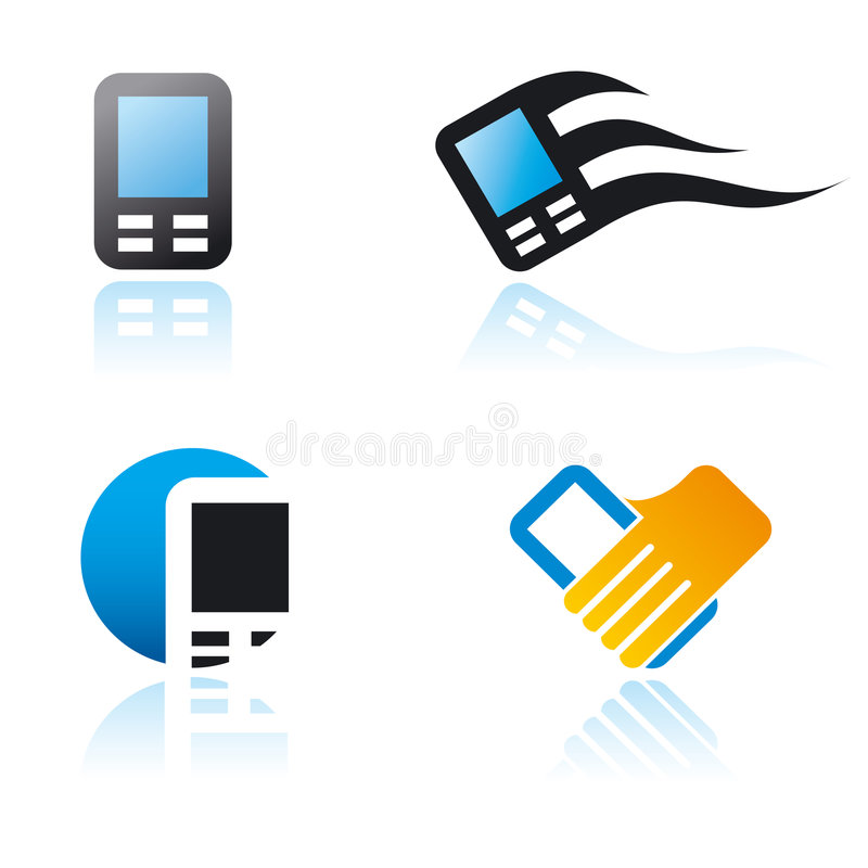 Download Set Of Graphic Symbols On Communication Theme Stock Vector - Image: 9006214