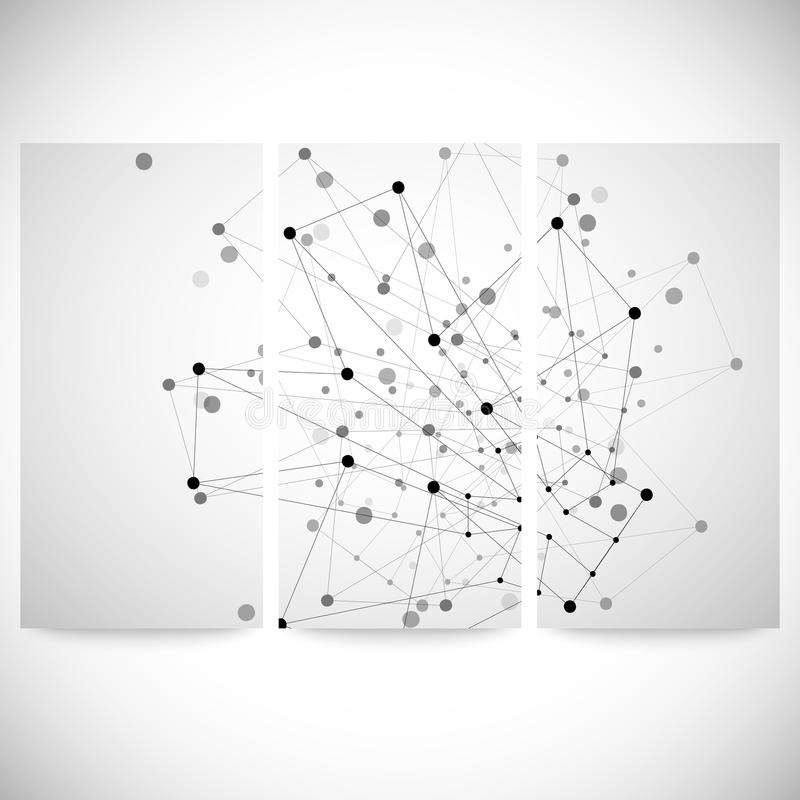 Set of gray backgrounds for communication, stock illustration