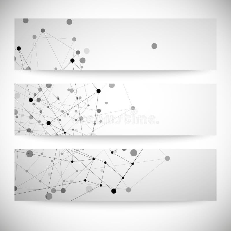 Set of gray backgrounds for communication, royalty free illustration