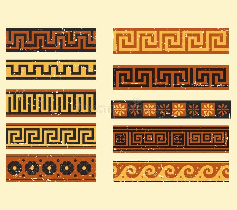 Set of greek pattern. Collection of ancient greek patterns royalty free illustration