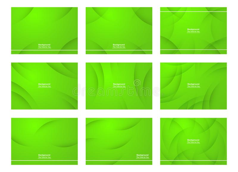 Set of green abstract background with copy space for text. Modern template design for cover, web banner, screen and magazine. Vector illustration vector illustration