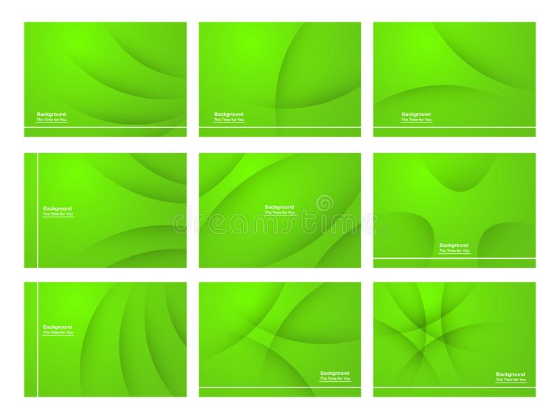 Set of green abstract background with copy space for text. Modern template design for cover, web banner, screen and magazine. Vector illustration royalty free illustration