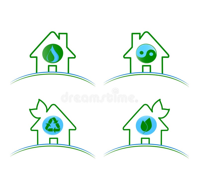 Download Set Of Green Environmental Icons Isolat Stock Vector - Illustration: 34217044