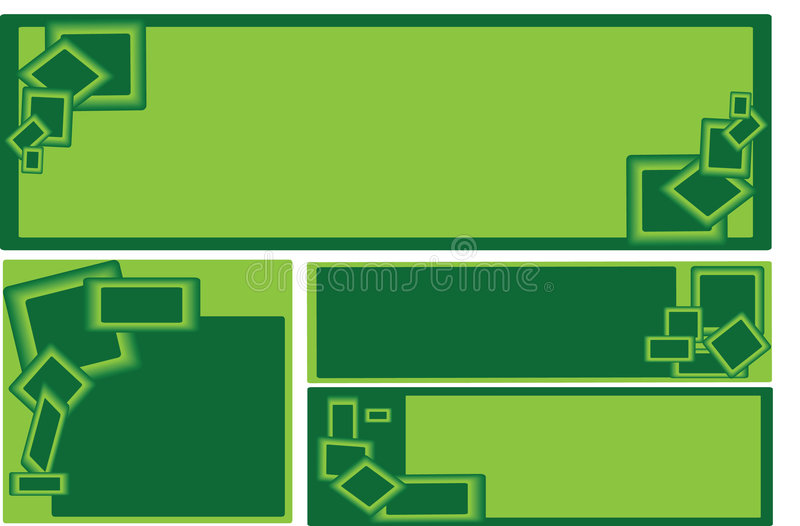 Download Set Of Green Rectangle Business Banners Stock Vector - Image: 7445093