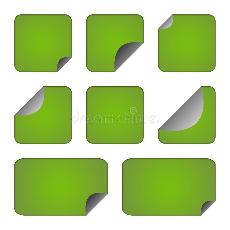 Download Set Of Green Stickers Or Labels Stock Illustration - Image: 14440625