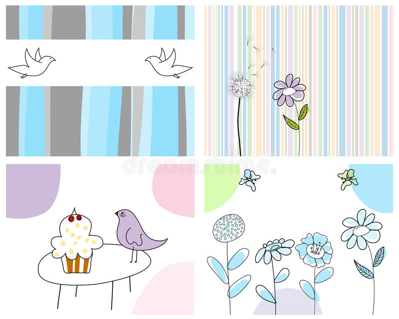 Download Set of greeting cards stock vector. Image of born, floral - 11824230