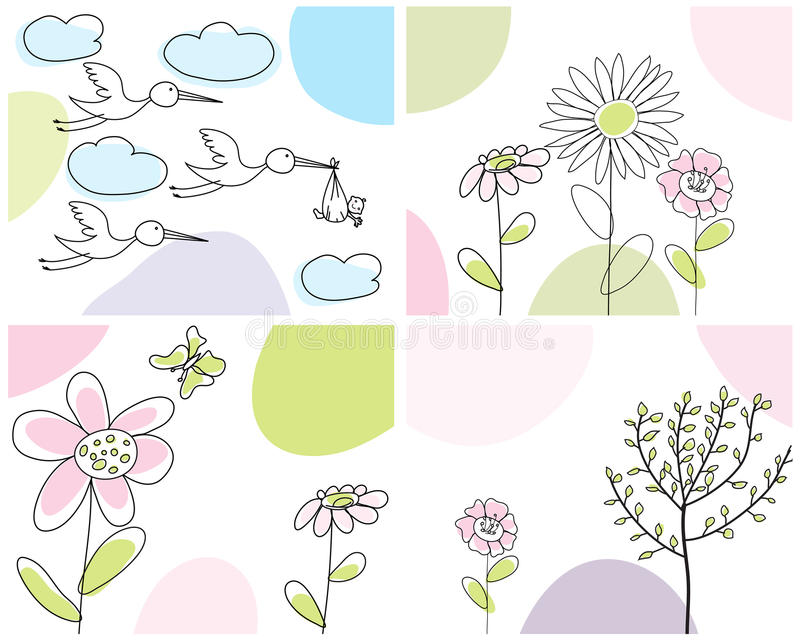 Download Set of greeting cards stock vector. Image of cards, colors - 11824775