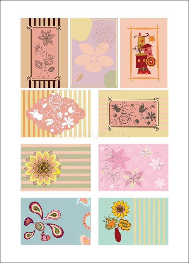 Download Set of greeting cards stock vector. Illustration of botanical - 26045256