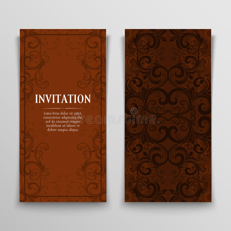 Set of greeting cards royalty free illustration