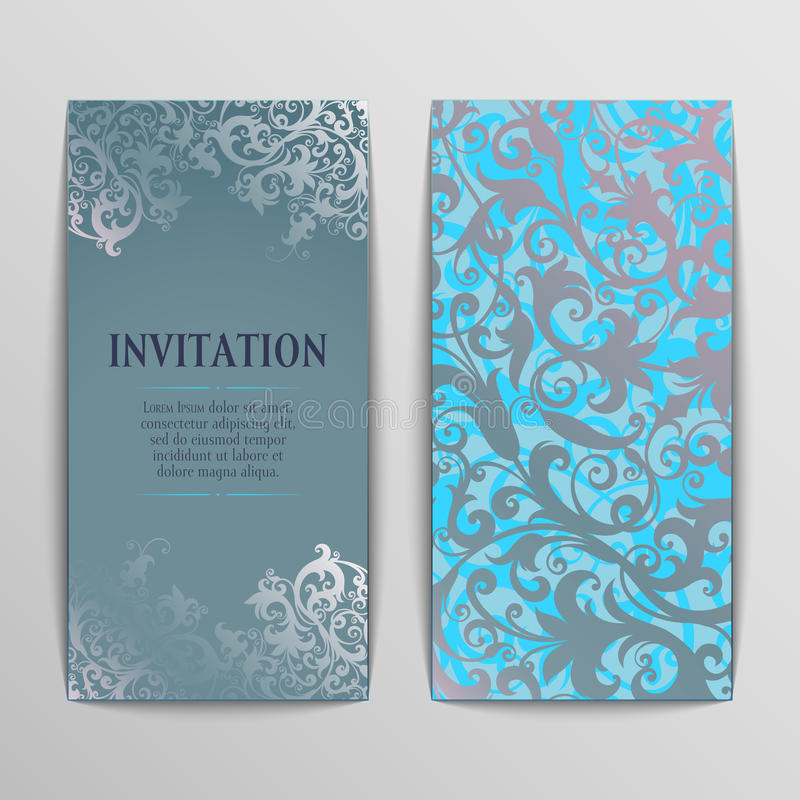 Set of greeting cards vector illustration