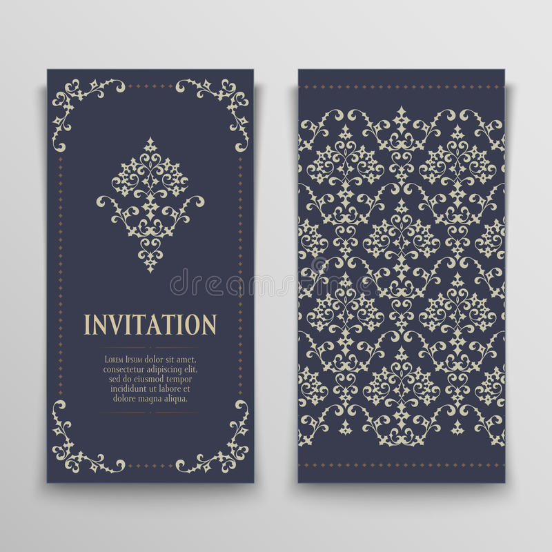 Set of greeting cards stock illustration