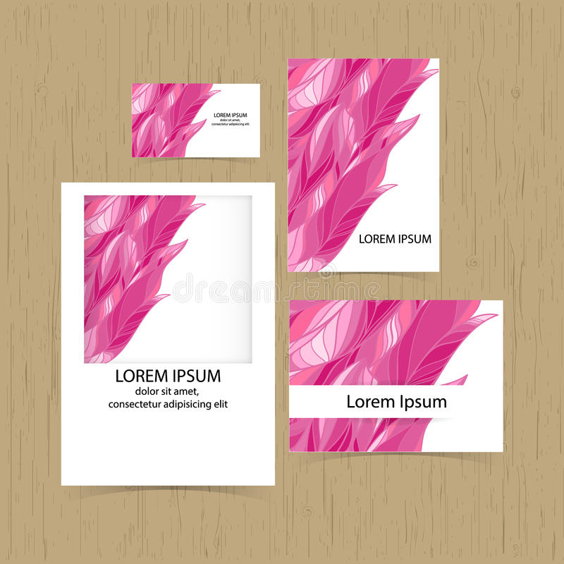 Set Of Greeting Cards, Business Cards, Flyer. Cover Design. Stock ...