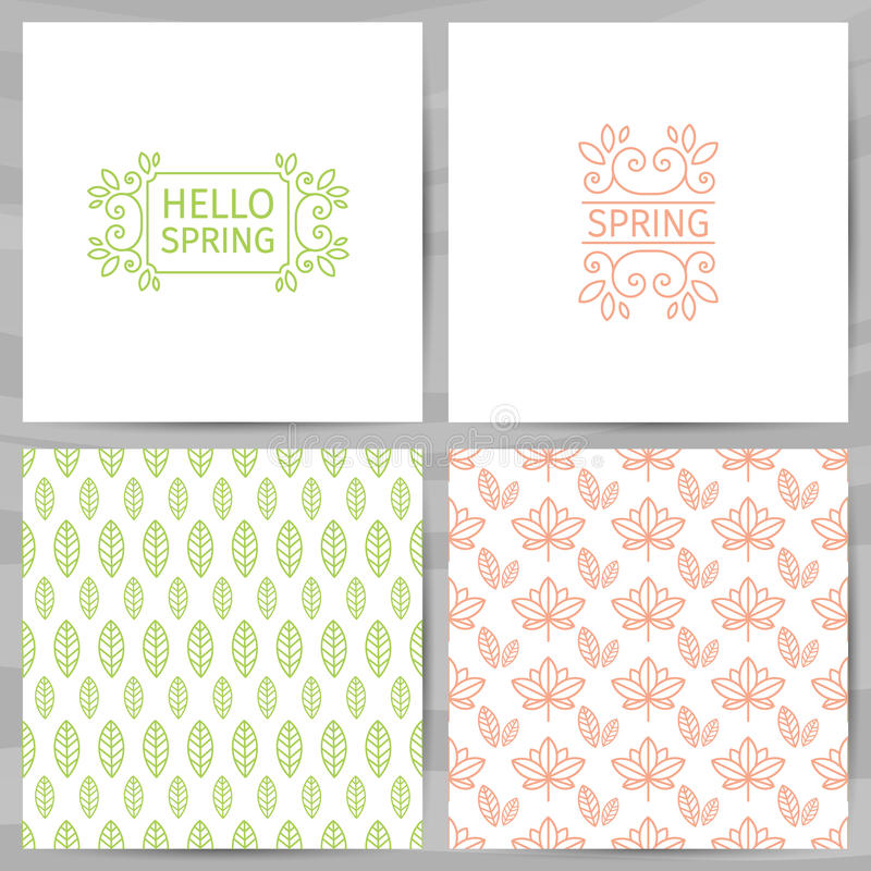 Set of greeting cards invitations template design hello spring download set of greeting cards invitations template design hello spring logo with swirl m4hsunfo