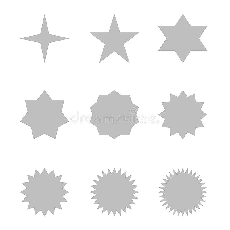 Set of grey stars royalty free illustration