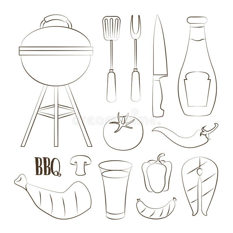 Set grill royalty ilustracja