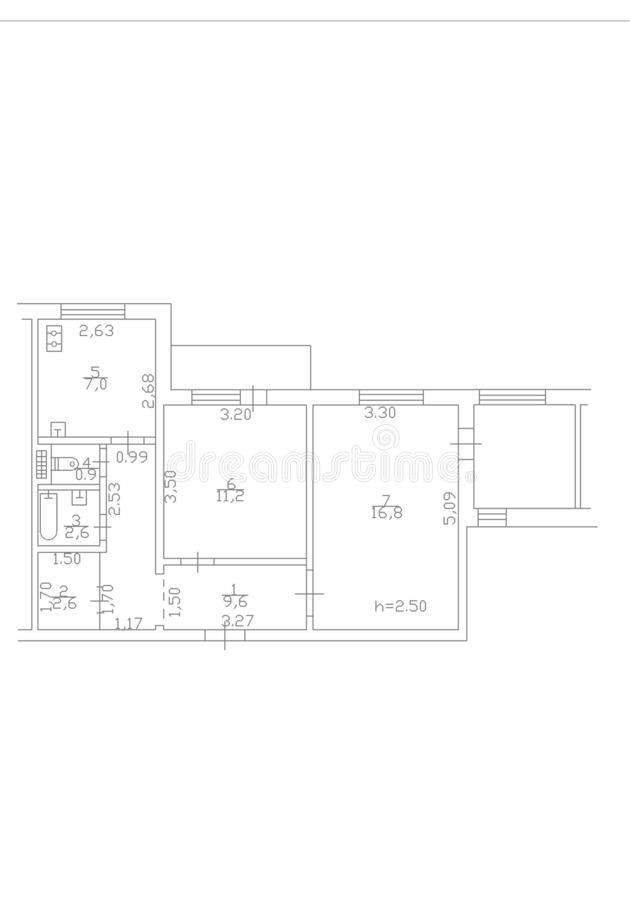 Set Of Groundfloor Blueprints Floorplan Stock Illustration