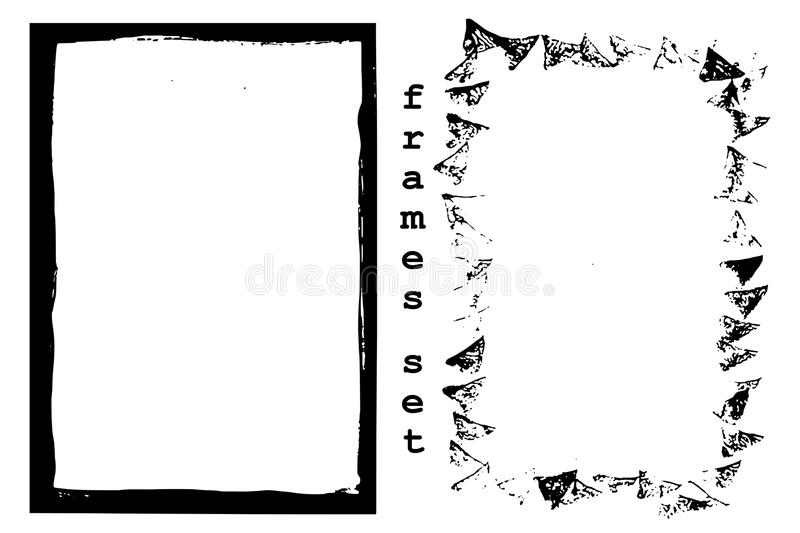 Set grunge frames stock photos