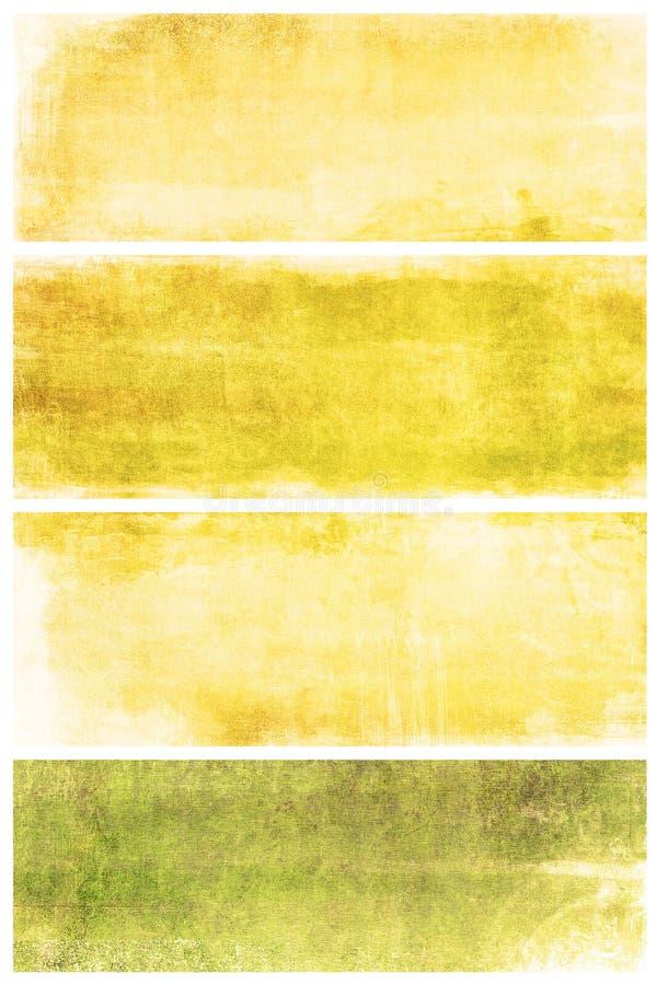 Set grunge tła z przestrzenią dla teksta ilustracja wektor