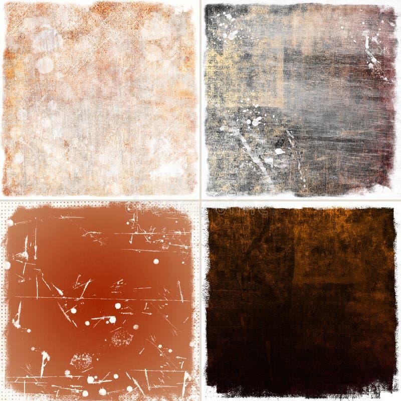 Set grunge tło ilustracji