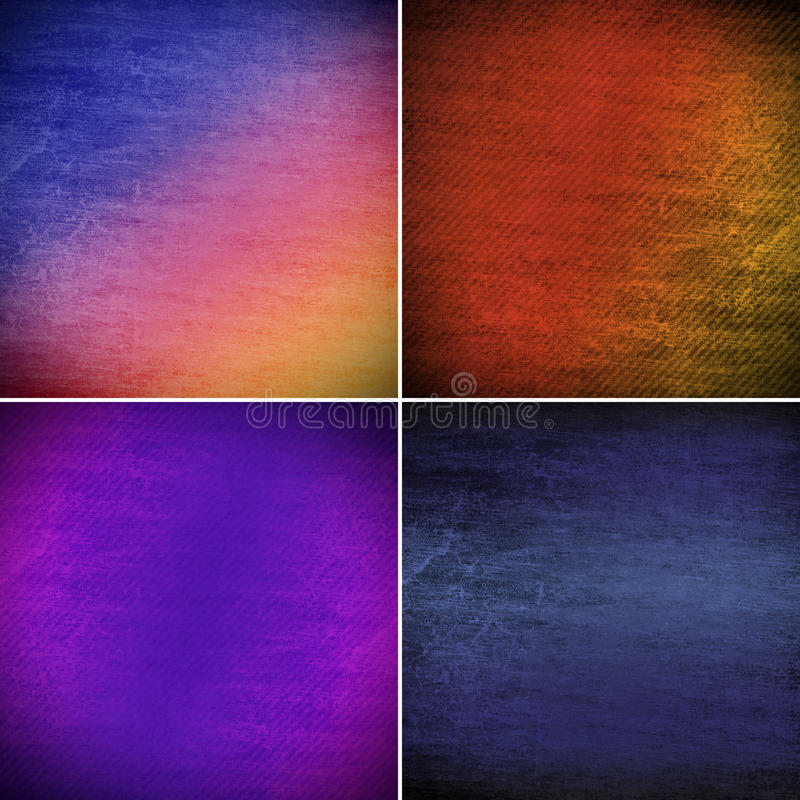 Set grunge tło ilustracja wektor