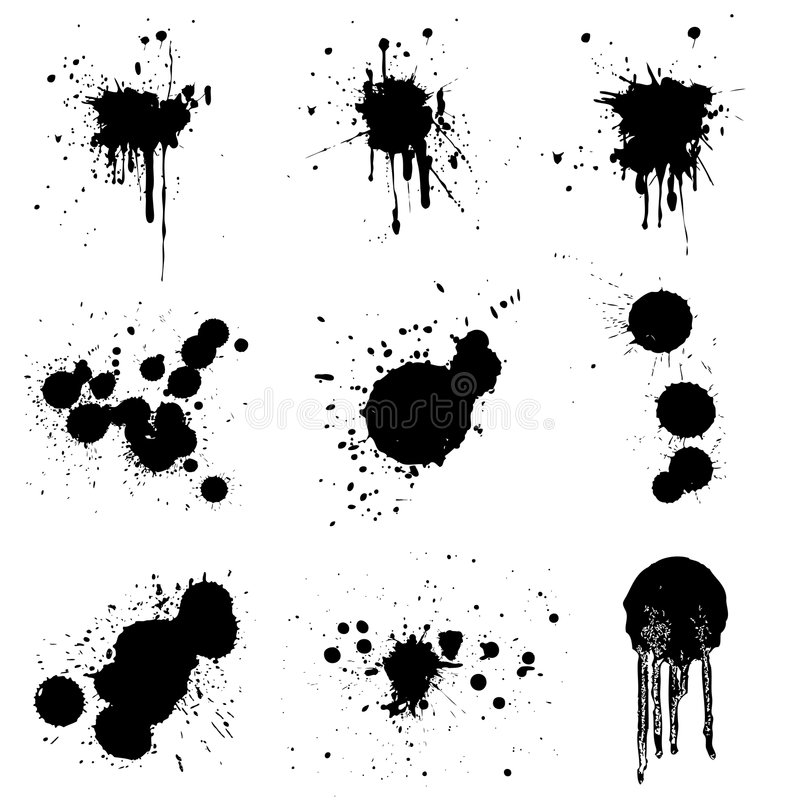 Download Set of grunge vector stock vector. Image of scary, drop - 5617645
