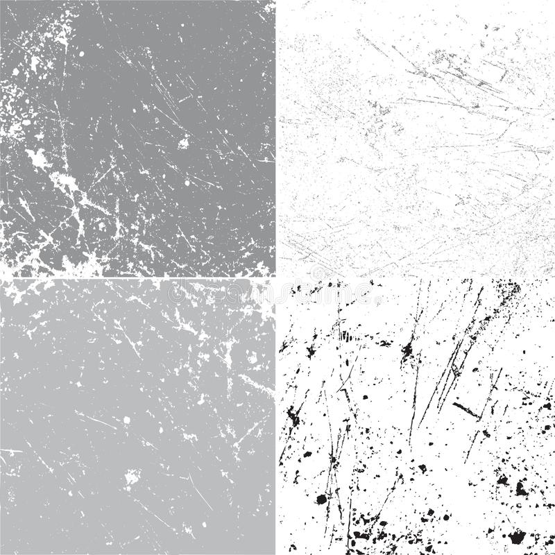 Set of grunge vector background texture. Template royalty free illustration