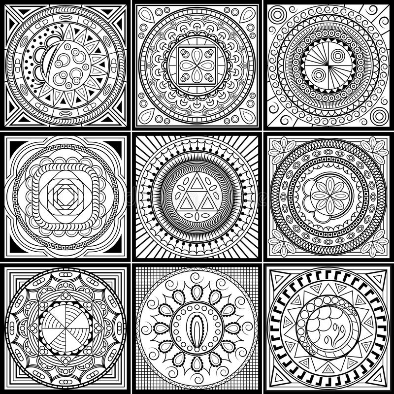 set gset geometric ornaments can be used as coloring page elements your decoration