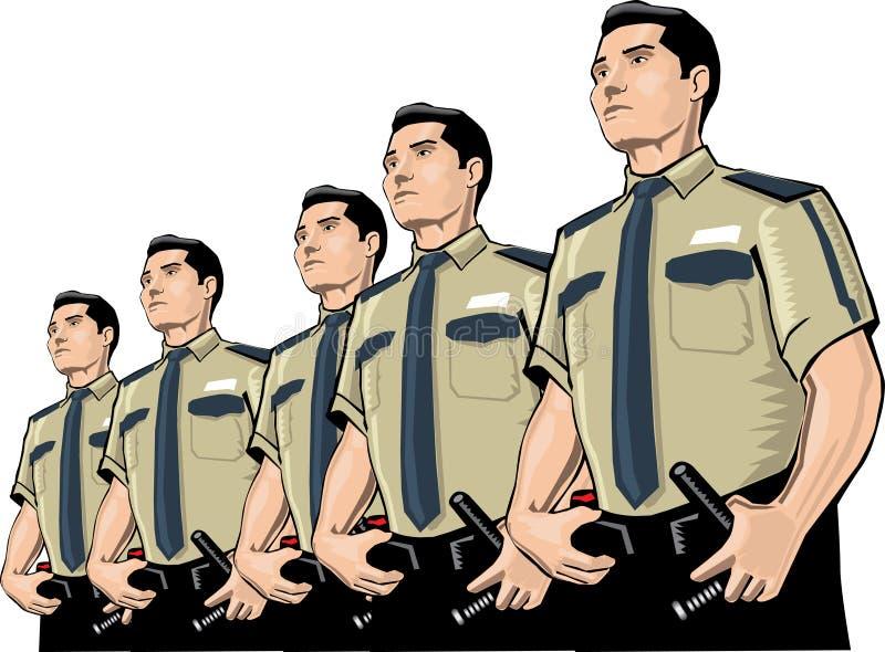 Set of Guards stock illustration