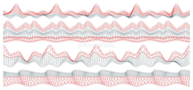 Download Set of guilloche borders stock vector. Image of elements - 16864332