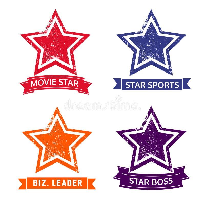 Set gwiazdowe ikony royalty ilustracja