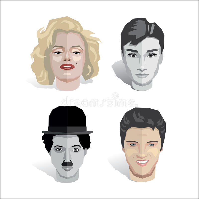 Set gwiazdy hollywoodu royalty ilustracja