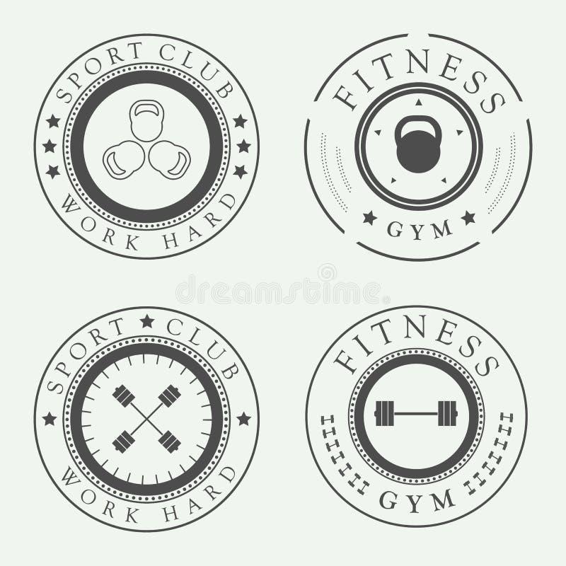 Set gym logowie, ilustracji