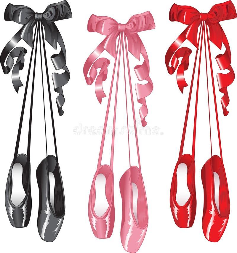set häftklammermatare för balett stock illustrationer