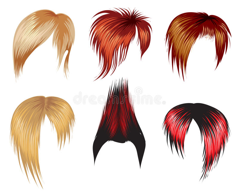 Download Set Of Hair Style Samples Stock Photo - Image: 9863480