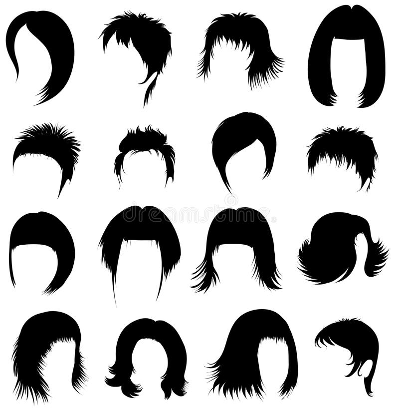 Download Set of hair styling stock vector. Illustration of girl - 9952112