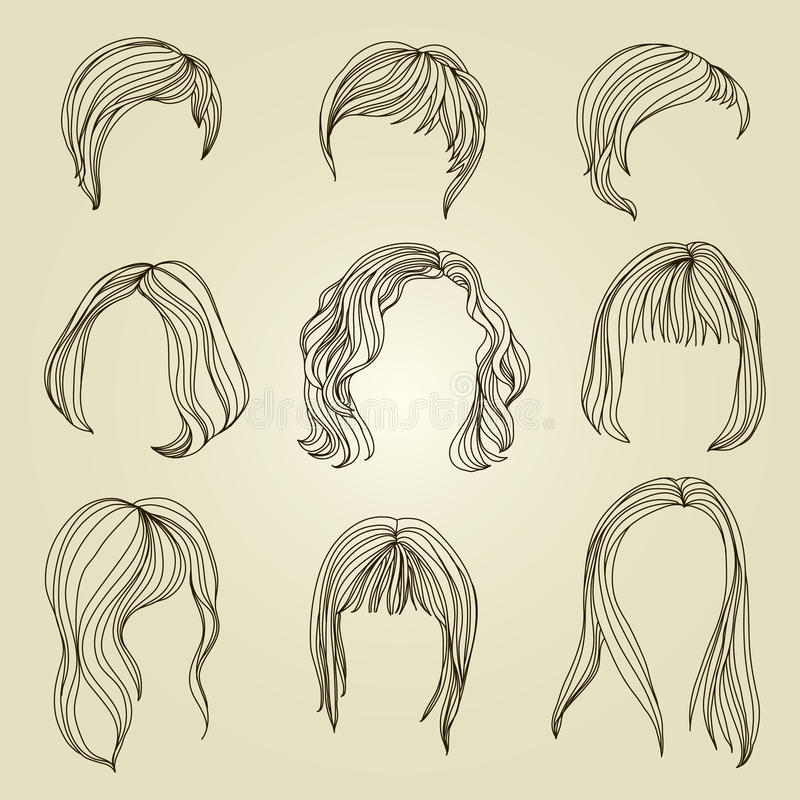 Download Set Of Hair Styling For Woman Stock Vector - Image: 20295056
